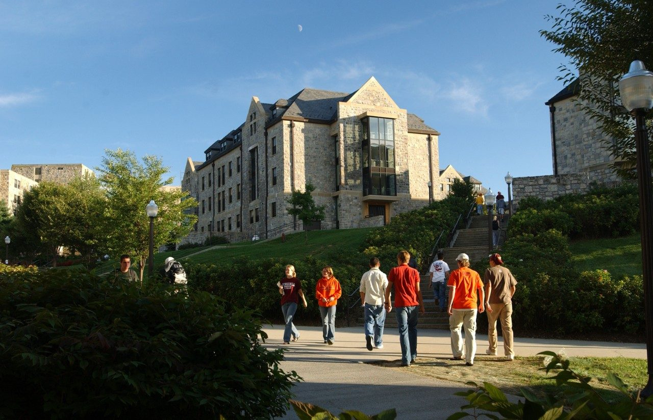 Students outside New Residence Hall East
