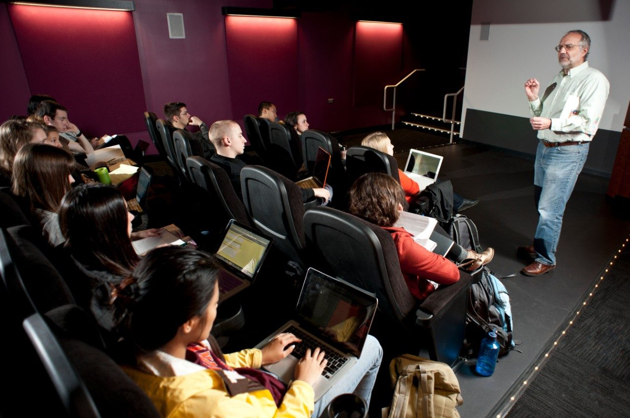 Class is held in West AJ's Movie Theater